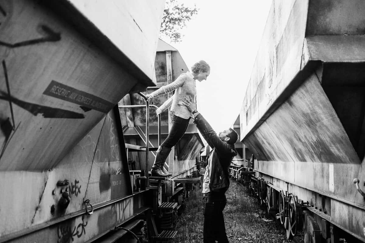 Séance engagement à Strasbourg dans une friche ferroviaire  -