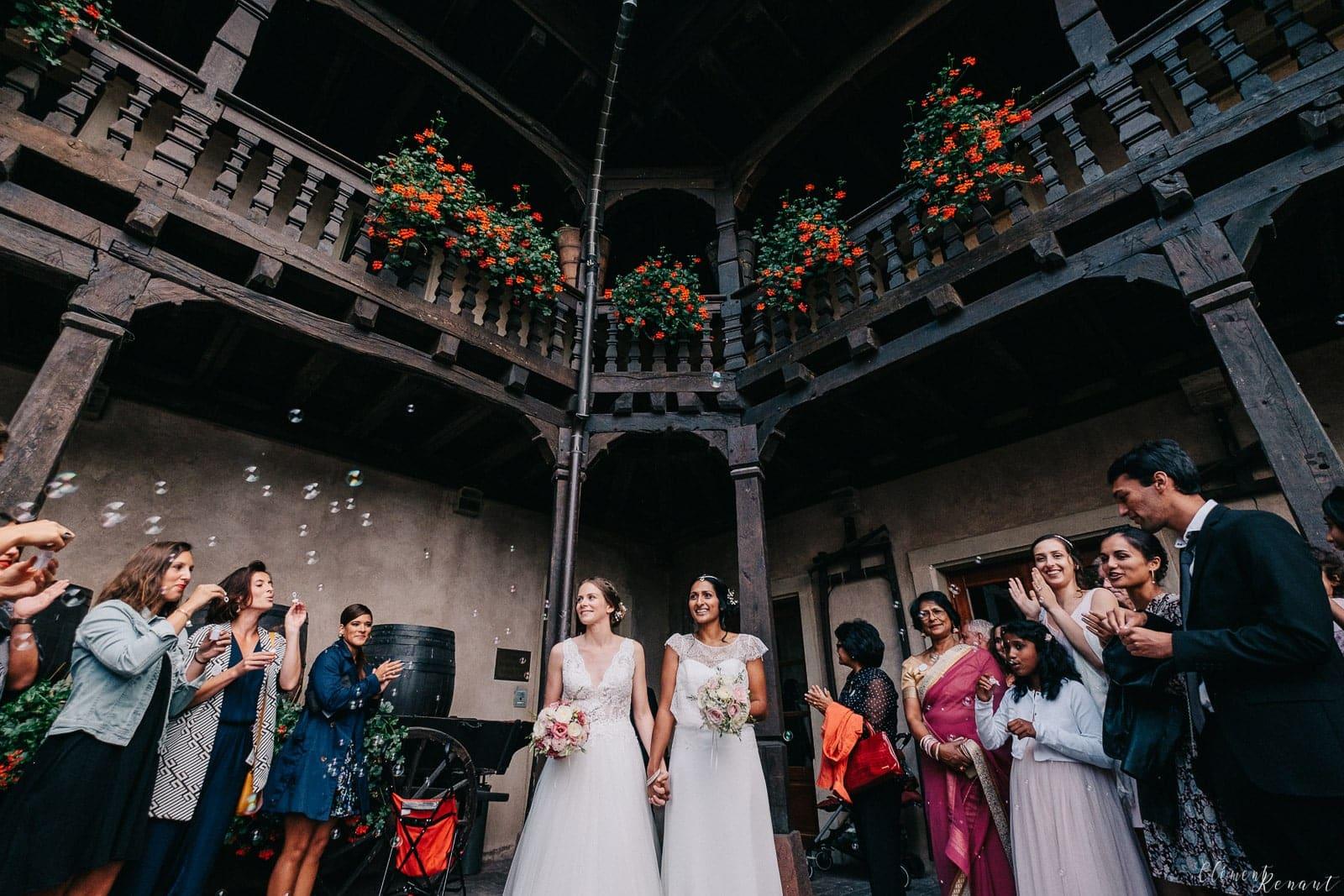 Mariage à la Cour de Honau en Alsace