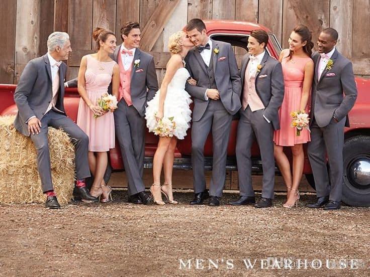 Jolis mariés et témoins