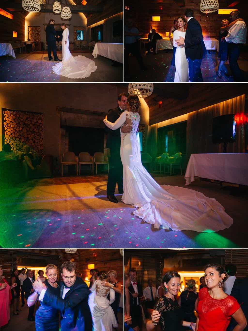 Ouverture de Bal et soirée dansante à la fin du mariage.