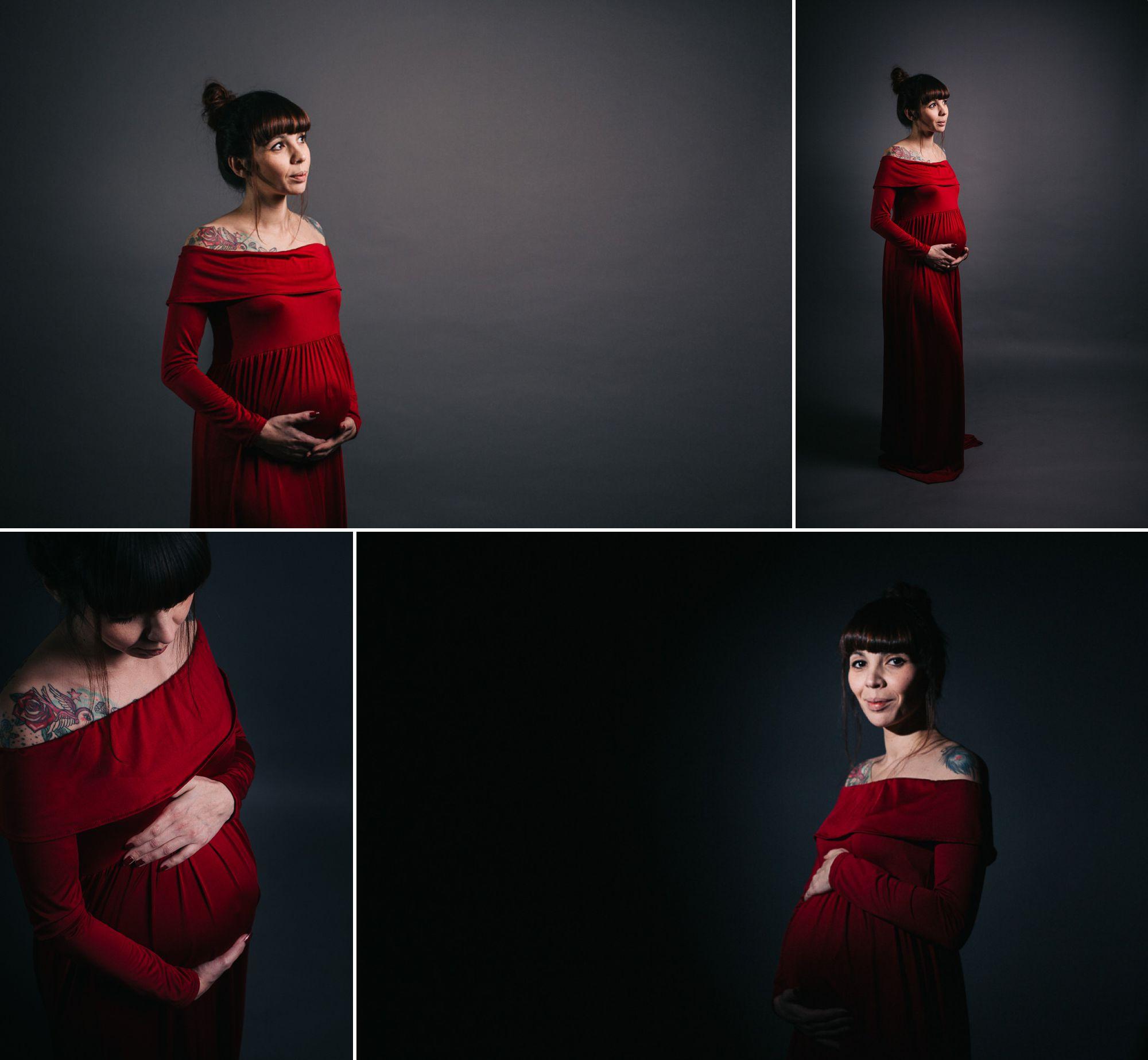 Séance photo grossesse en studio à Strasbourg