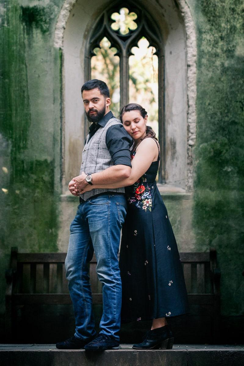 Séance engagement d'un couple à Londres