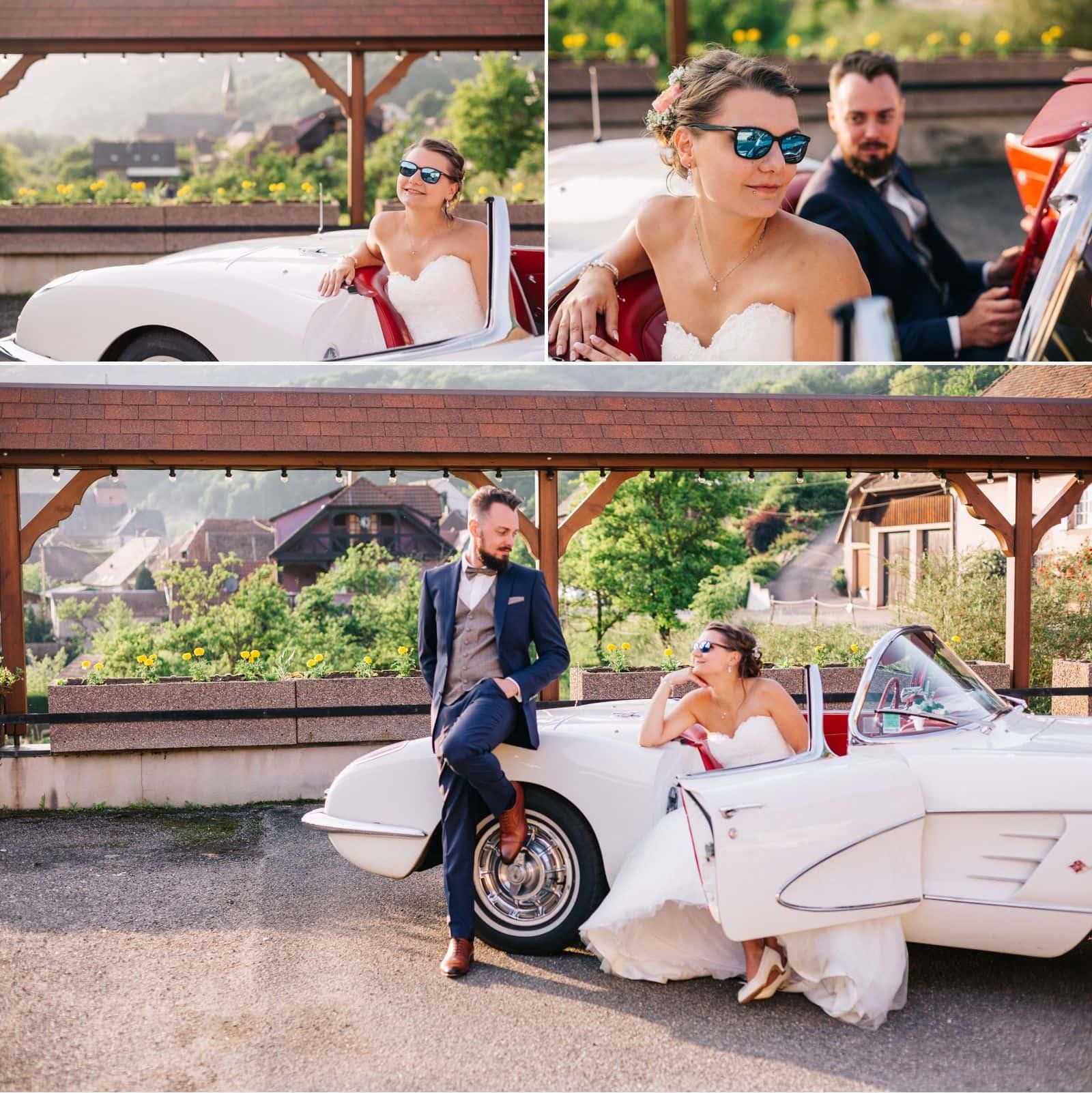 les photos de couple des jeunes mariés à Steige
