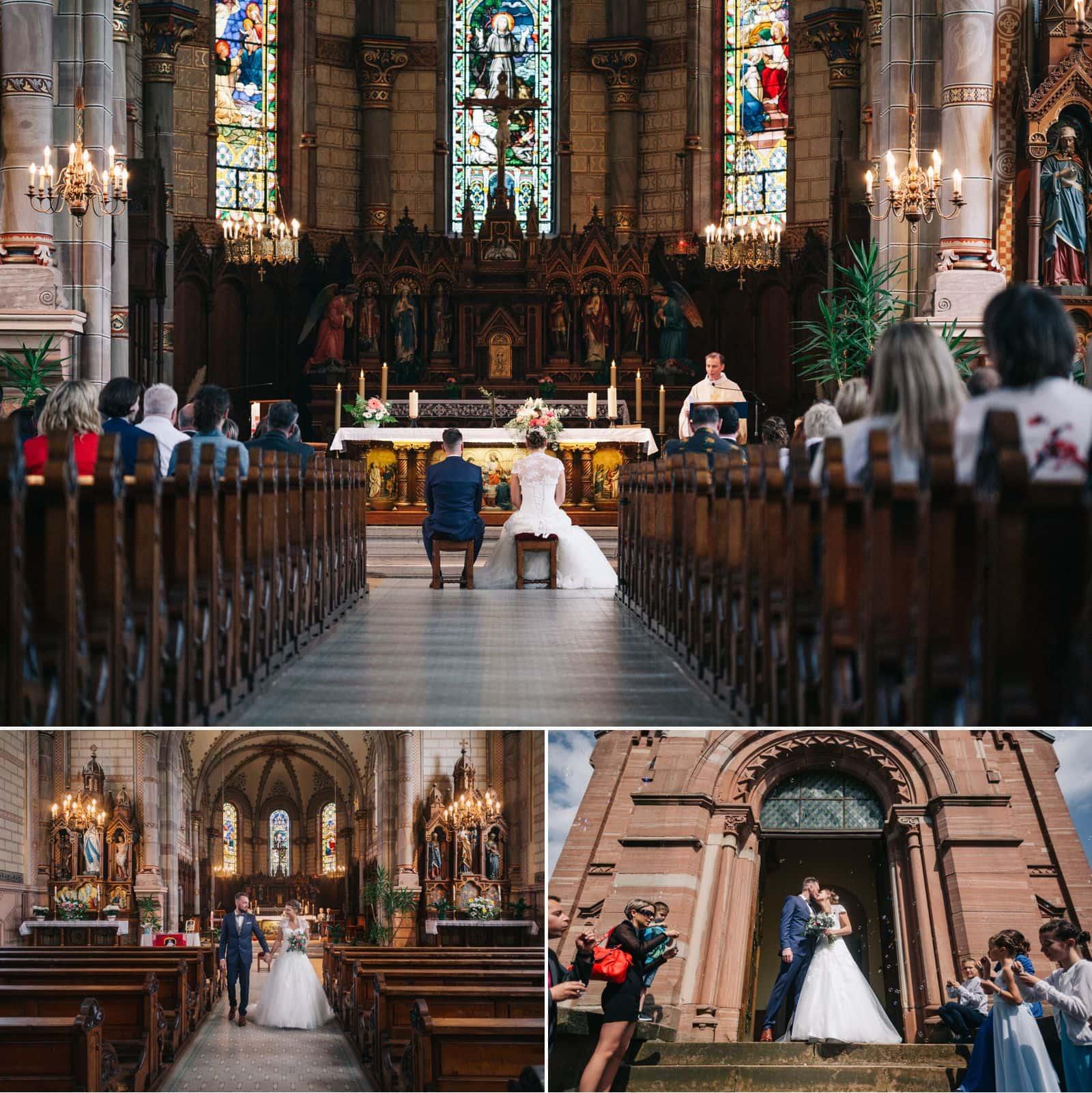 Mariage à l'eglise de Breitenbach en Alsace