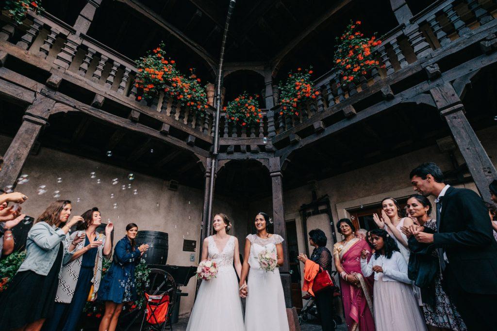 Cloe et Lyndia, le mariage à la cours de honau  -