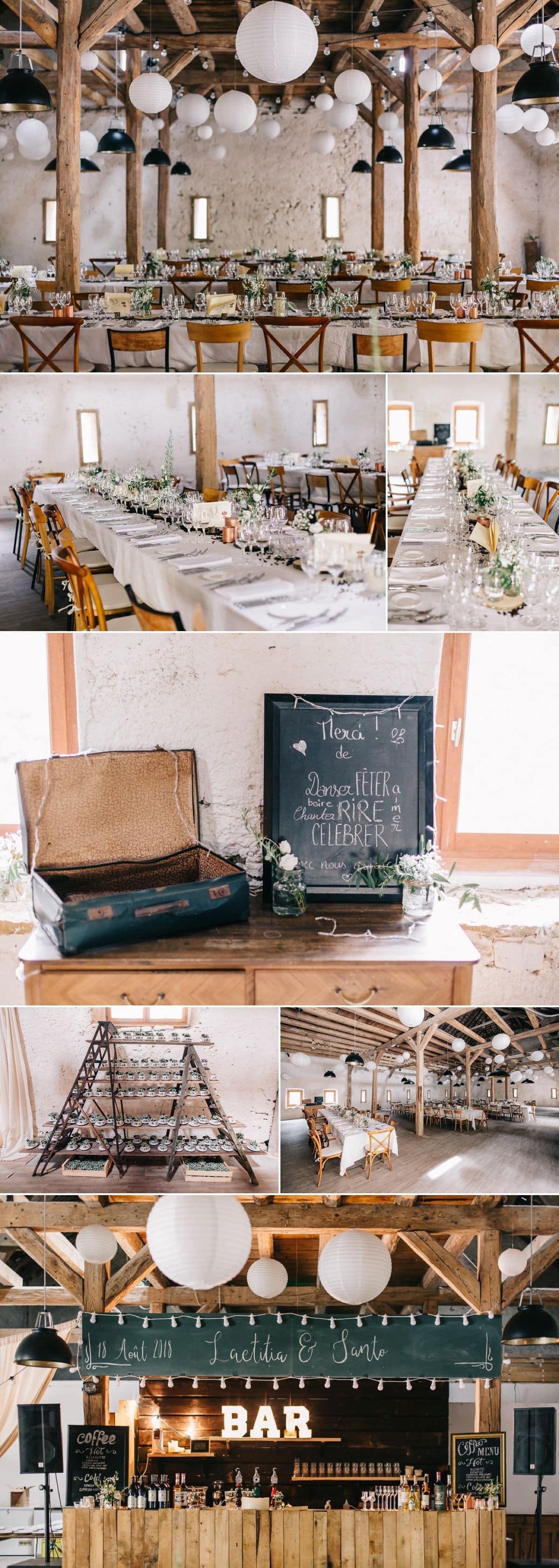 Le repas de mariage dans la grange du Morimont