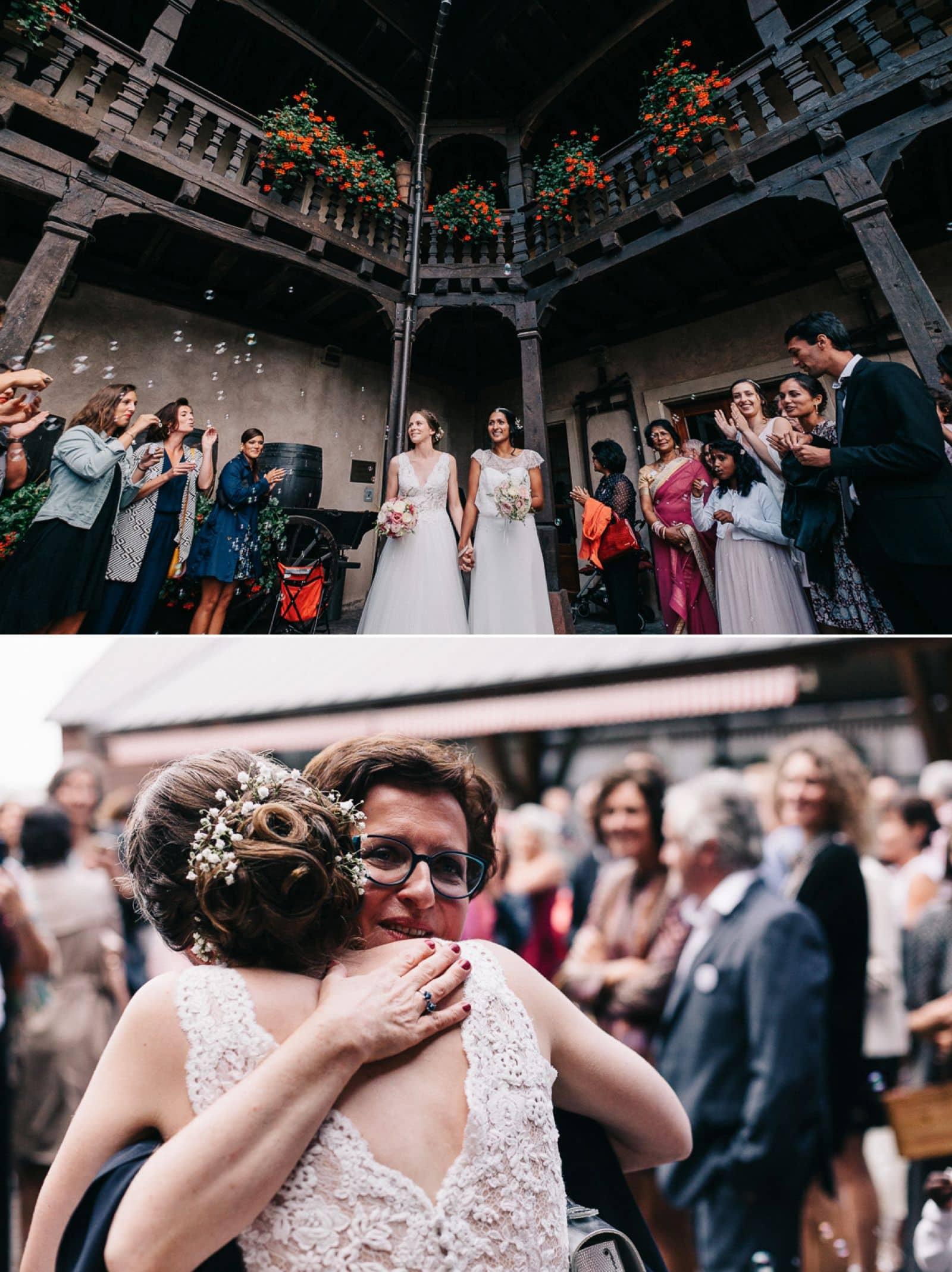 Photographe de mariage en Alsace à la cour de honau
