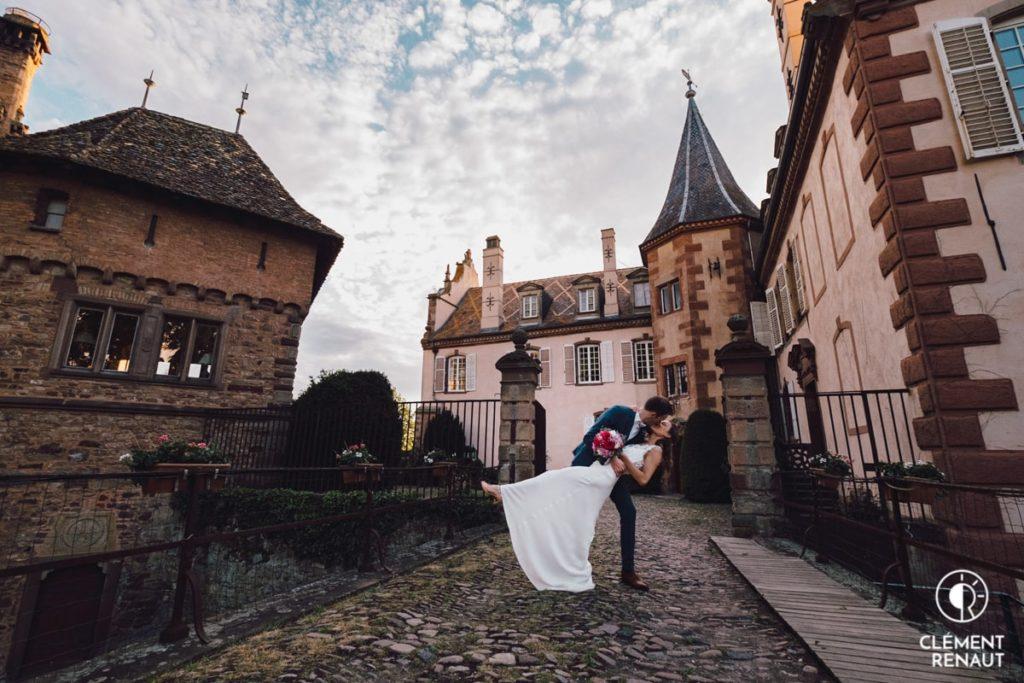 Photo de couple au chateau d'osthoffen