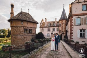 Photo de couple au chateau d'osthoffen