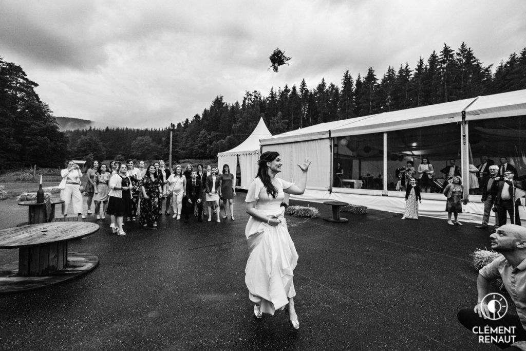 Lancé du bouquet lors du Mariage au Floessplatz