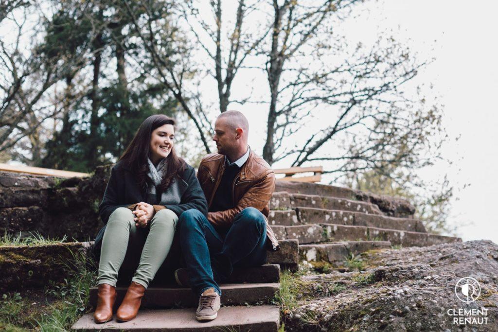 Séance Photo Engagement au Mont St Odile  -