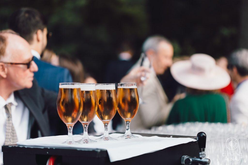 Cocktail de mariage au chateau d'osthoffen