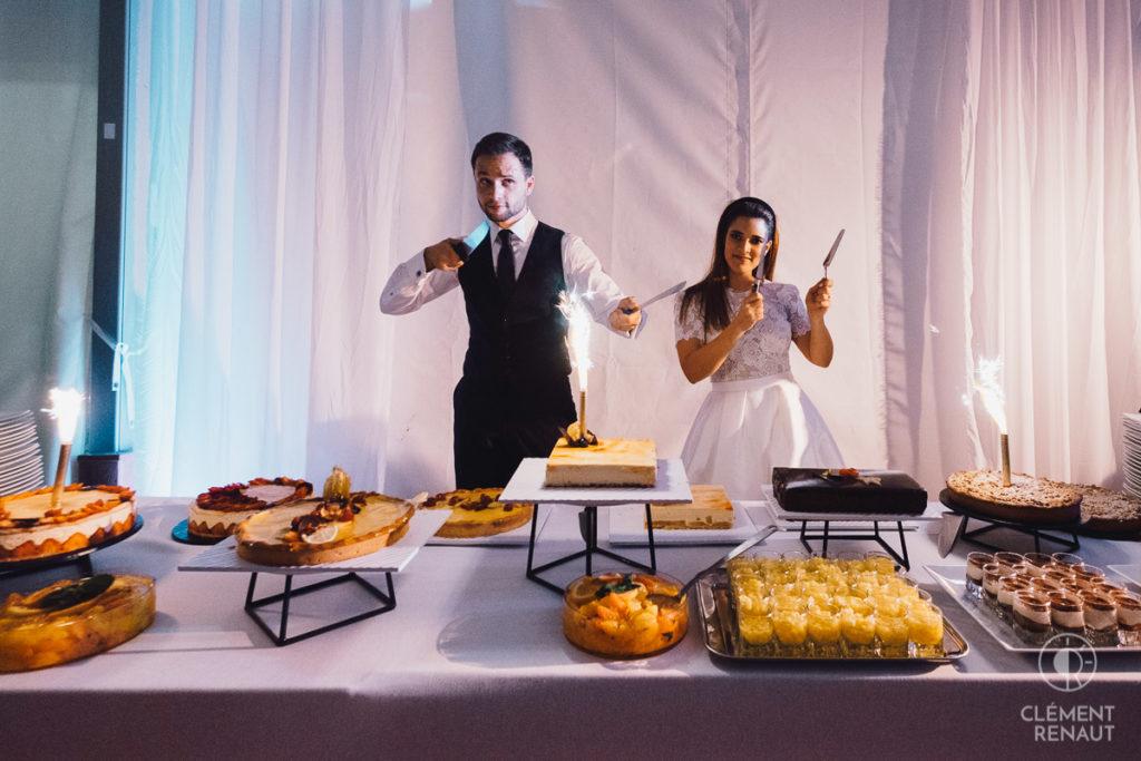L'heure du dessert du mariage
