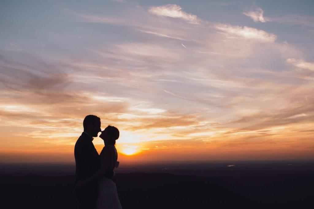 Séance Day After Mariage coucher de soleil au Donon