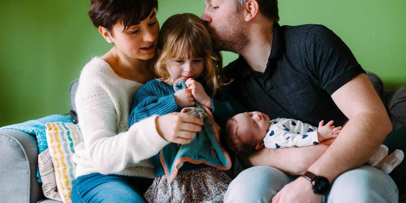 Séance photo naissance à domicile à Strasbourg -